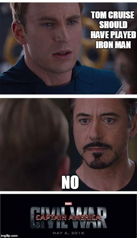 Tom Cruise Meme Generator - marvel civil war 1 meme imgflip