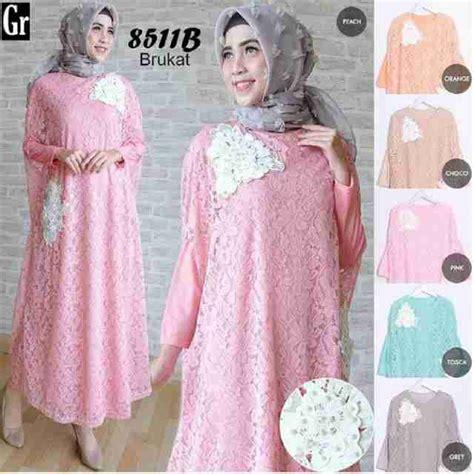 Baju Murah Ukhti Syari baju muslim syari brukat plus inner murah kd 8511b sipp