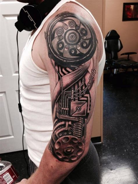 biomechanical half sleeve tattoo designs biomechanical tattoos designs pictures
