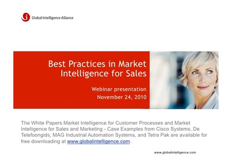 best for sales best practices in market intelligence for sales