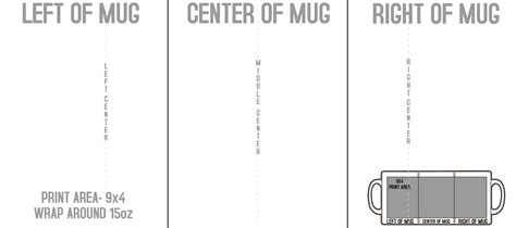Mugs Templates 8 5 Quot X3 Quot Mugs Template Mug Design Template