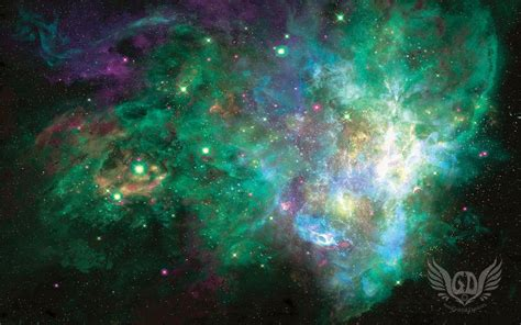 wallpaper galaxy green free deep space wallpaper download for mac or pc