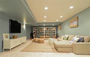 Best Paint Finish For Basement 26 Charming And Bright Finished Basement Designs