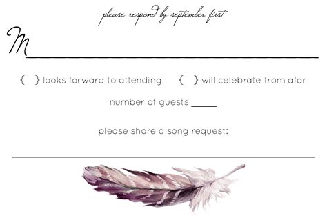 Wedding Rsvp Cards Plus One