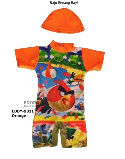 Baju Selam Bayi Orang Orange baju renang bayi edby 9011 angry bird orange distributor