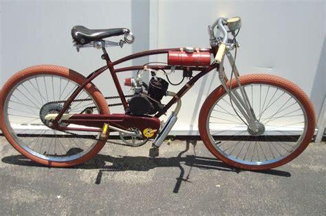 motor powered bicycle motorized bicycle bike vtg gas powered bicycle jc