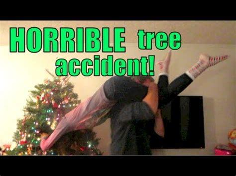 horrible christmas tree accident vlogmas day  youtube
