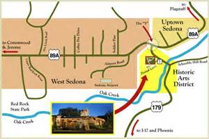 map arizona sedona location of el portal and sedona maps el portal sedona hotel