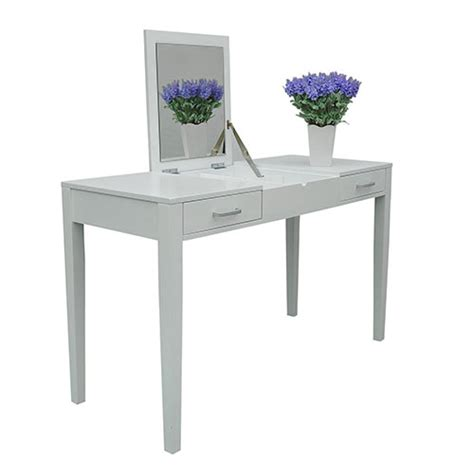 Vanity Table L 47 Quot L Vanity Makeup Dressing Table Desk Make Up Lift Top Mirror 2 Drawers White Smart Cart