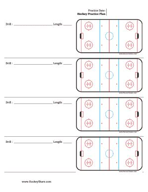 hockey practice plan template plan template