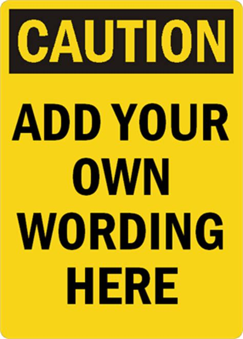 Osha Caution Signs Mysafetysign Com Caution Sign Template
