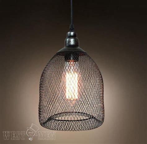 Handmade Hanging Lights - handmade steel mesh pendant l vintage industrial black