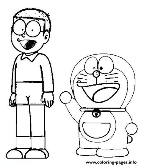 free coloring page doraemon free nobita and doraemon551f coloring pages printable