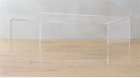 peekaboo acrylic coffee table cb2