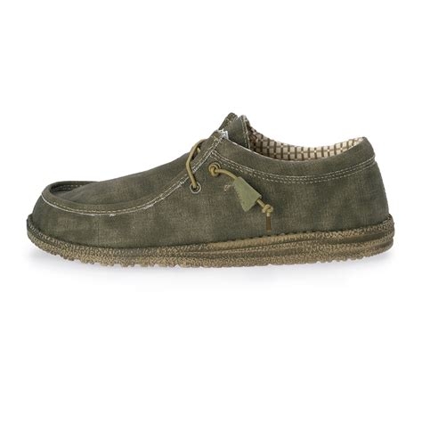 dude shoes hey dude wally stonewashed canvas shoe s