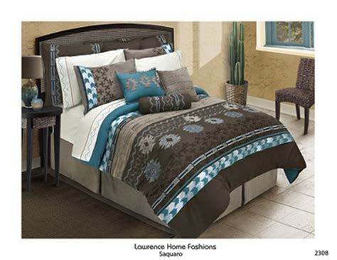 brown and turquoise bedding saquaro chocolate brown comforter set southwest design machine washable embellished