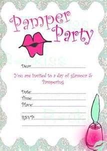 pamper party invitation pamper kisses instant download