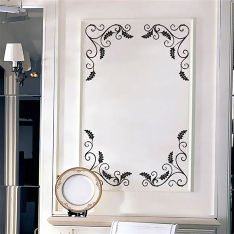 Bathroom Mirror Stickers | 4pcs removable showcase glass window bathroom mirror wall