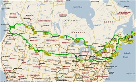 road map usa and canada canada road trip this is what we want but home through