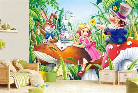 alice in wonderland bedroom wallpaper alice in wonderland wall mural wallpaper wall d 233 cor wall
