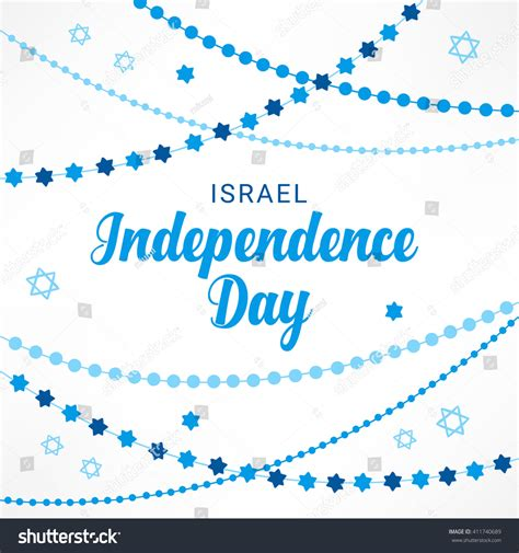 how to make independence day greeting card israel independence day greeting card garlands stock