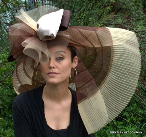 kentucky derby hats for short hair brown tone off the face hat for the kentucky derby hats