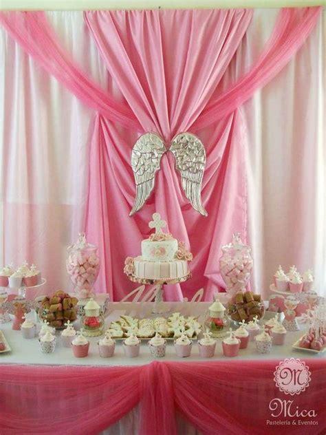 decoracion de bautizo pink baptism ideas bautizos comuni 243 n y
