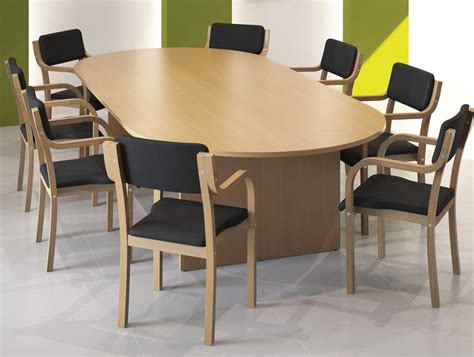 Office Furniture Meeting Table Kito Meeting Table With Panel Leg Base In Beech