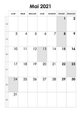 calendrier mai  calendriersu