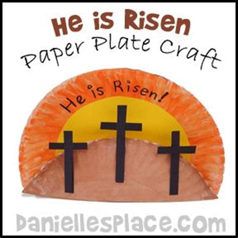 Paper Plate Bible Crafts - easter craft he is risen paper plate craft for bible