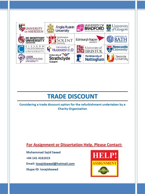 Trade Credit Discount Formula Trade Discount Discounts And Allowances Trade Credit