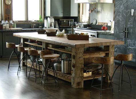 reclaimed pine kitchen island or work table olde good things photo 28626