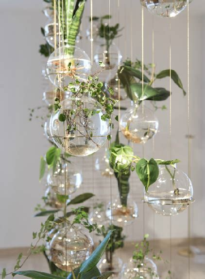 glass hanging planters michael anastassiades green