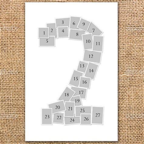 Single Number Photo Collage Poster Printable   Alexandria