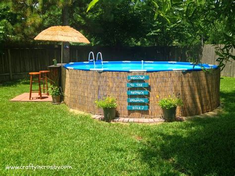 Our Little Piece Of Backyard Paradise Camouflaged The Diy Backyard Pool