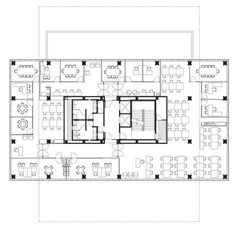 office block floor plans glazed boxes cantilever outwards from tatiana bilbao s