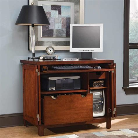 Computer Desk Armoires Small Computer Armoire Office Furniture