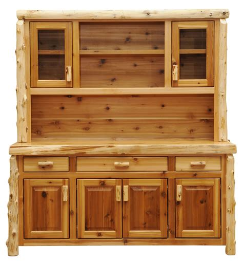 Cedar Hutch cedar 75 quot buffet with hutch with open shelving from