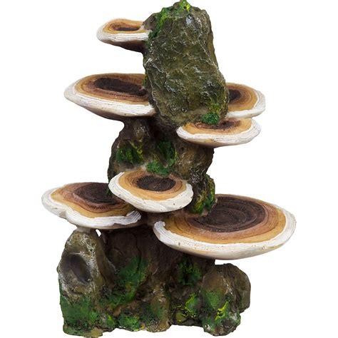 Petco Aquarium Decor by Penn Plax Rock With Mushrooms Aquarium Ornament Petco