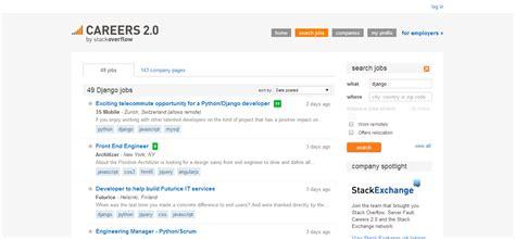django tutorial stackoverflow 5 websites for finding django development jobs