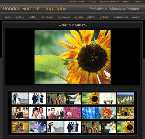 website templates for gallery photography website template 42 photography web template