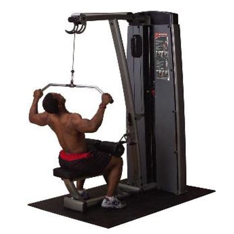 solid dual lat pulldown mid row machine 310lb stack