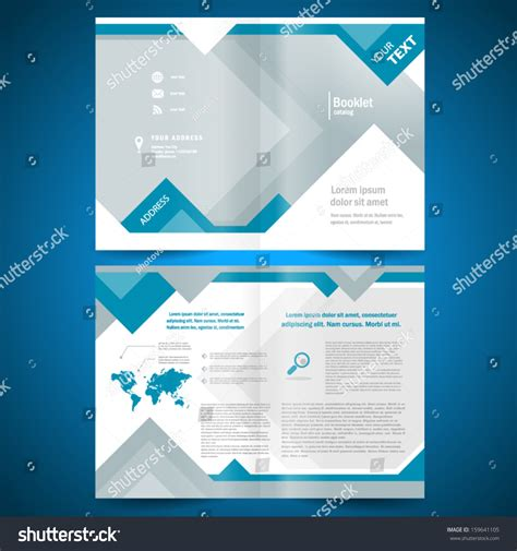 Booklet Template Design Catalog Brochure Folder Stock Vector 159641105 Shutterstock Booklet Template Free
