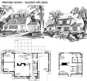gambrel house plans charming gambrel colonial in two versions 81136w 2nd