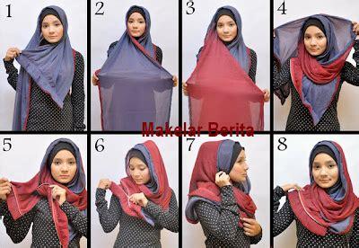 tutorial jilbab nuri maulida indahnya berbagi foto dan video cara memakai jilbab