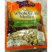 ben s 5 whole grains calories ben s ready whole grain medley pouch roasted garlic