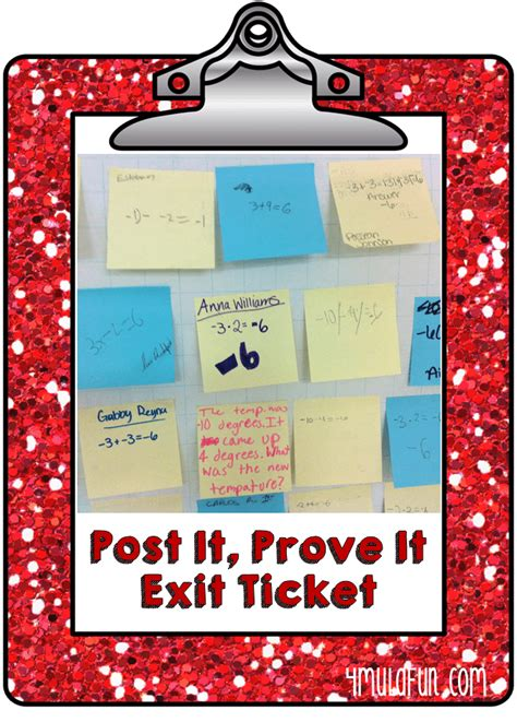 Exit Opportunities For Post Mba Consulting by Warm Ups Or Exit Tickets In The Classroom Smith