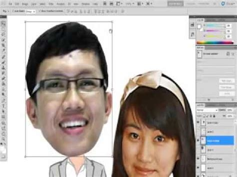 tutorial edit foto karikatur tutorial edit karikatur menggunakan photoshop youtube