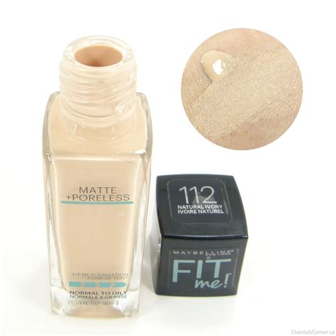 Maybelline Fit Me Matte Poreless Foundation Review maybelline fit me matte poreless foundation in 112 ivory review