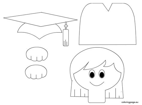 coloring pages for preschool graduation best photos of kindergarten graduation cap template free